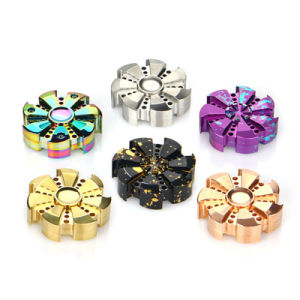 Rose Turbine Hand Spinner Aluminum Alloy Fidget Spinner Hand Focus Toy