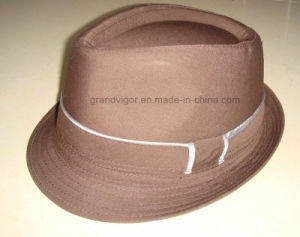 Wholsale Fedora Trilby Woolfelt Hat with Broad Brim pictures & photos