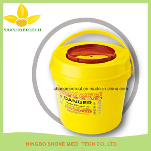 Round Plastic Medical Disposable Sharps Container, Sharps Box, Medical Disposal Bins pictures & photos