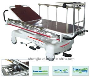 Sjm008 Luxurious Hydraulic Rise-and-Fall Stretcher Cart