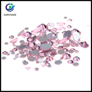 Faceted Flat Round Grade AA Glass Hotfix Rhinestone pictures & photos
