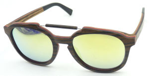 Fqw161662 New Design Hotsale Elegent Lady Wooden Sunglass Mirror Lens pictures & photos