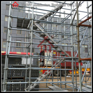 Galvanized Steel Step Ladders Working Platform for Building Construction