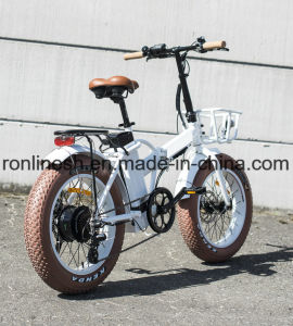250W/500W Folding/Foldable 20X4 Fat Tyre Electric Bike/E Fat Bicycle/ Fat Pedelec/Electric Snow Bike/E Bike/Electric Bicycle CE pictures & photos