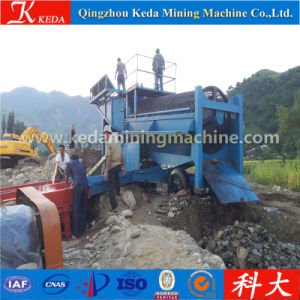 Double Layer Sieve High Manganese Steel Gold Trommel (KDTJ-100) pictures & photos