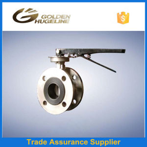 API609 Metal Seat Triple Eccentric Double Flange Butterfly Valve pictures & photos