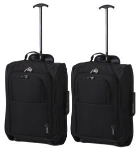 The Collection Plain Black Hand Luggage Trolley Case/ Bag pictures & photos