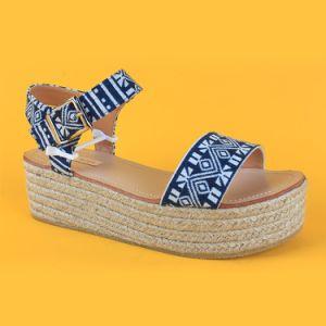 d7f1949d7cbef Ladies Hot Selling Summer Navy Blue Wedge Platform Sandals Espadrilles