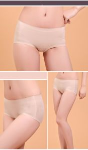Anti-Bacterial Silver Fiber Lace Seamless Underwear for Women pictures & photos
