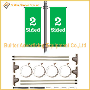 Metal Street Pole Advertising Banner Stand (BS-HS-008) pictures & photos