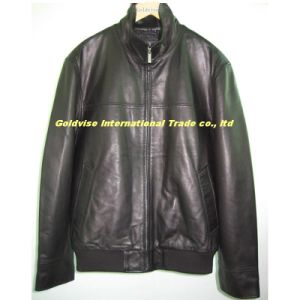 Men′s Leather Jacket (LAMB OUTRIGGER 001)