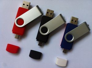 Newly Popular Swivel Android OTG 2in1 USB Flash (OM-P309) pictures & photos
