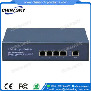 CCTV 4 Ports Poe Switch with Built-in Power (POE0410B) pictures & photos