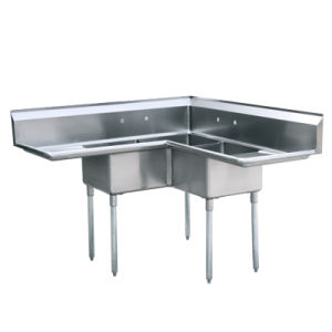 China Stainless Steel Three Compartment with Left and Right ...