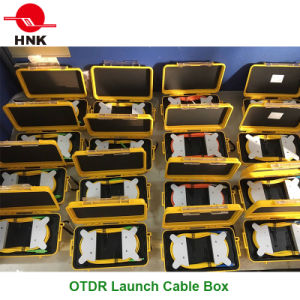 Sc/LC/FC/St/Mu/E2000 PC/Upc/APC Singlemode Multimode OTDR Launch Cable Box pictures & photos