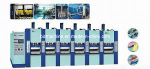 EVA Slipper Foaming Injection Molding Machine 6stations pictures & photos