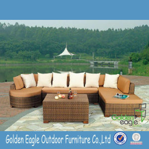 SGS Test PE Rattan Sectional Pation Sofa