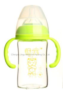 180ml Diamond Glass Baby Feeding Bottle pictures & photos