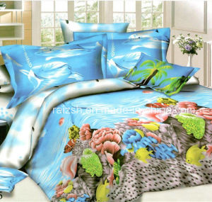 2015 New Design Beautiful Shark Printed 3D Bedding Sets China Wholesale