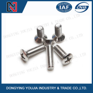 Jisb1111o Stainless Steel Cross Recessed Raised Countersunk Head Screw pictures & photos