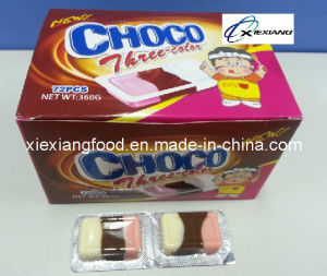 Choco Three Color 5g Chocolate+Stawberry+Milk Three Flavors pictures & photos