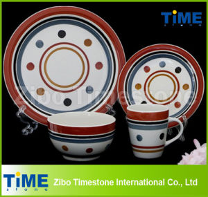 Wholesale Custom Ceramic Hand Printed (Painted) Stoneware Dinnnerware pictures & photos