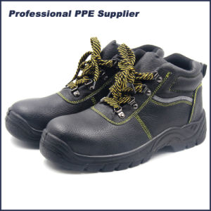 Cheap PU Injection Industrial Leather Steel Toe Safety Shoes pictures & photos