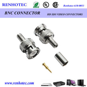 BNC Connector Rg59 BNC Male Plug Coaxial Connector Crimp for Rg59 pictures & photos
