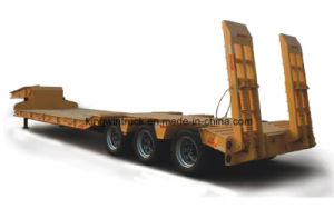 China Cimc Brand 3 Axles Low Bed Semi Trailer