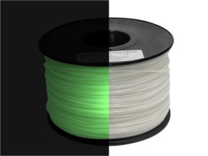 PLA 3.0mm Glow in The Dark Green 3D Printing Filament
