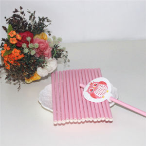 Party Supply Pink Paper Drinking Straw pictures & photos