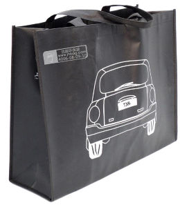 Black Non-Woven Shopping Bags for Gift Promotional (FLN-9055)