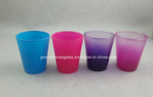 Promotional Colorful Shot Glass, 1.5oz Rainbow Color Shot Glass