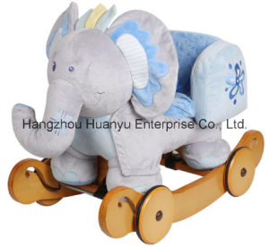 Washable Rocking Animal-Blue Elephant with Safeguard pictures & photos