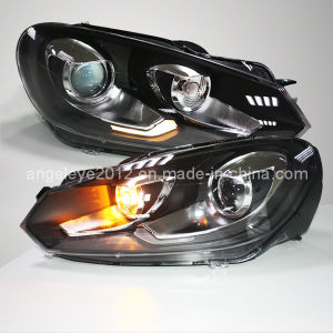 LED Golf 6 Head Light for Vw Ld Type