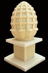 Sandstone Carving Cylindricity Garden LED Light Lantern with Loudspeaker pictures & photos