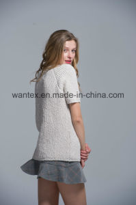 Ladies 100% Cotton Sweaters Fashionable Knitted Tops Knitted Sweaters pictures & photos