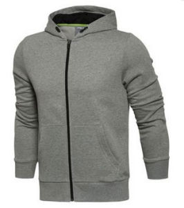 Custom Dri Fit Plain Fleece Full Zipper Hoodie Without Logo pictures & photos