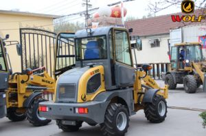 Wolf Front Wheel Loader 1000kg Small Loader with New Cabin pictures & photos