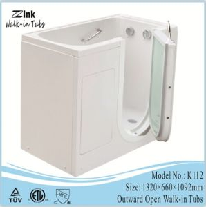 Foshan Zink K112 North America Hot Sale Elderly Massage Tub 1 Person Walk  In Bathtub
