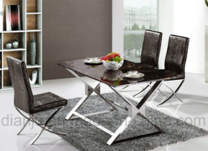 Simple Stainless Steel Furniture Dining Table (A8003)