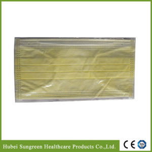 Yellow Non-Woven Face Mask with Binding pictures & photos