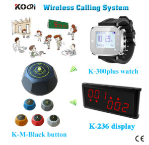 Hot Sell Electronic Buzzer Bell Wireless Service Waiter Remote Call Bell System pictures & photos