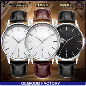 Yxl-447 Fashion Promotional Best Selling Quartz Wrist Men′s Watch Genuine Leather Calendar Date Hand Watches Men pictures & photos
