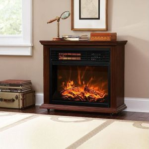 China Insert And Freestanding Electric Fireplace Heater Log Led