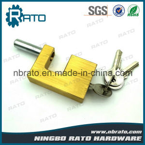 Heavy Duty Rectangular Brass Padlock for Warehouse