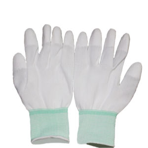 Cleanroom PU Finger-Coated Working Glove pictures & photos