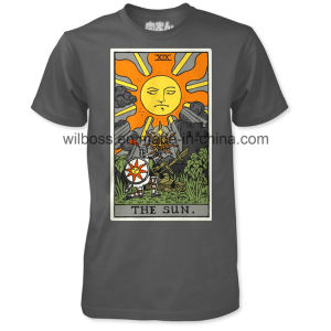 Hot Custom Quality Cotton Screen Printing Man′s T-Shirt of Round Neck