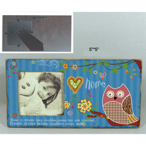 Handmade Owl Wooden Picture Photo Frame