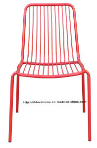 Modern Dining Stackable Side Steel Wire Chair pictures & photos